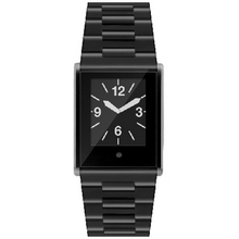 Часы Phosphor Touch Time, черные, стальной браслет. TT008