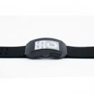 Часы Phosphor Digital Hour E-ink IPB на электронных чернилах, черные, полимерный браслет. DH04