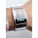 Наручные часы Phosphor World Time E-ink на электронных чернилах, белый полимерный браслет. WC02